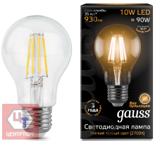 Эл. лампа Gauss LED A60 10W E27